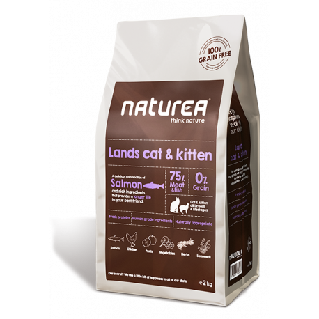 Naturea Lands Cat & Kitten para Gatos Adultos y Gatitos
