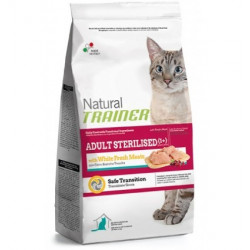Trainer Natural Cat Adult Sterilised with fresh White Meats