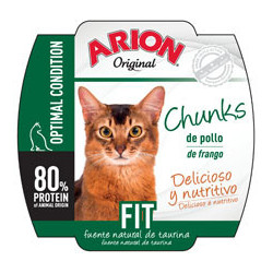 Arion Original Cat Wet Fit 70g - Tarrina de Chunks de Pollo