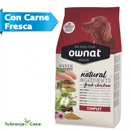Ownat Dog Classic Complet - Pienso para perros adultos