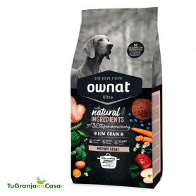 Ownat Dog Ultra Medium Adult saco 14 kg - pienso para perros de raza mediana adultos