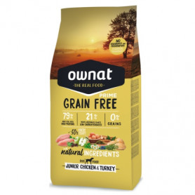 OWNAT DOG PRIME GRAIN FREE JUNIOR CHICKEN & TURKEY 14 KG