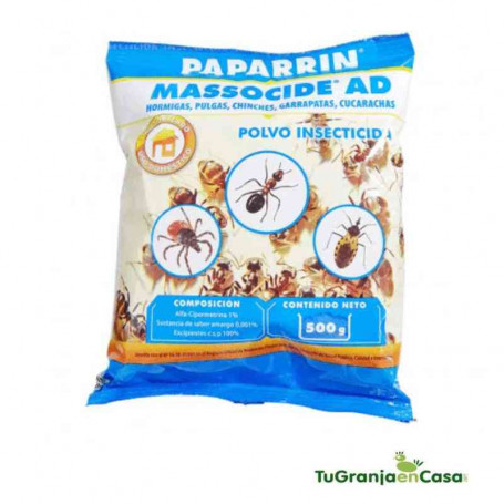 PAPARRIN POLVO INSECTICIDA JET 500 GR