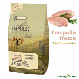The Natural Impulse Dog Adult Chicken saco 12 Kilos - Pienso Para Perros Adultos Monoproteico