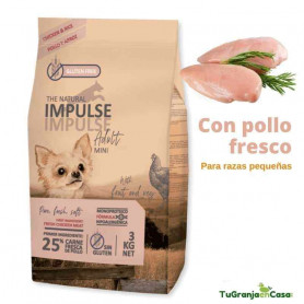 The Natural Impulse Dog Mini Chicken saco 12 Kilos - Pienso Para Perros de Raza Pequeña