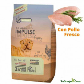 The Natural Impulse Dog Puppy Chicken 12 Kg - Pienso para cachorros Fórmula Monoproteica
