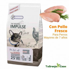 The Natural Impulse Dog Senior Chicken 12 Kilos - Pienso Para Perros Mayores de 7 años