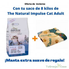 THE NATURAL IMPULSE CAT ADULT 8 KG + MANTA DE REGALO